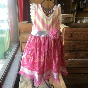 Giggle Moon Pink Dress Size 5 NWT Girls